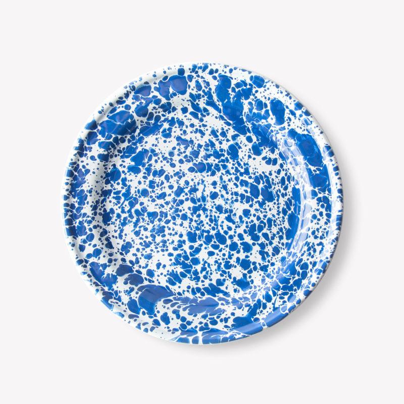 Assiette_plate_25cm_email_marbre_bleu_crow_canyon
