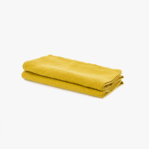 2 Serviettes de table Jaune miel 23€