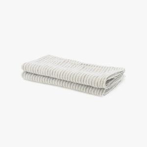 2 serviettes en lin rayures pyjama 25€