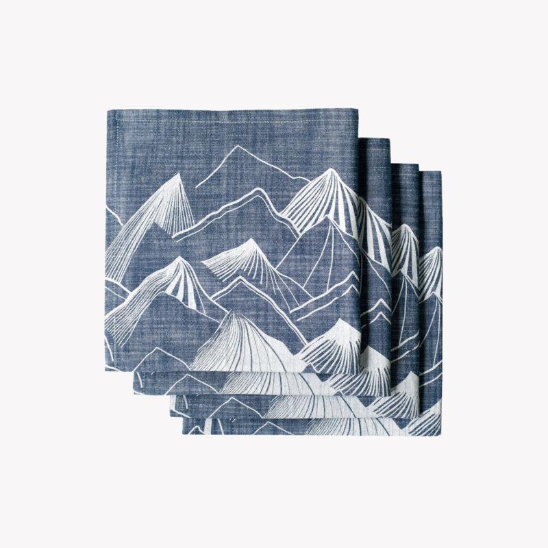 Lot-de-4-serviettes-chambray-imprime-montagnes-43-x-43cm-indigo-v1