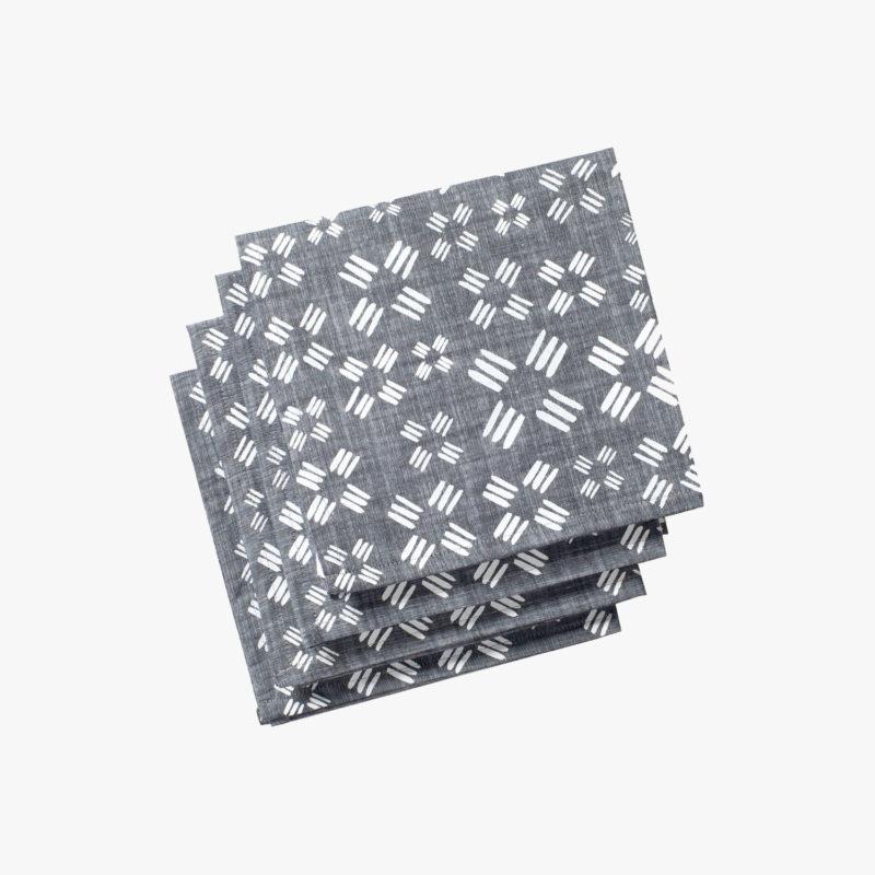Lot-de-4-serviettes-chambray-imprime-moulins-43-x-43cm-gris-v1