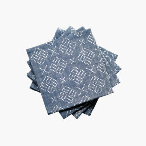 Lot-de-4-serviettes-chambray-imprime-tatouage-43-x-43cm-indigo-v1