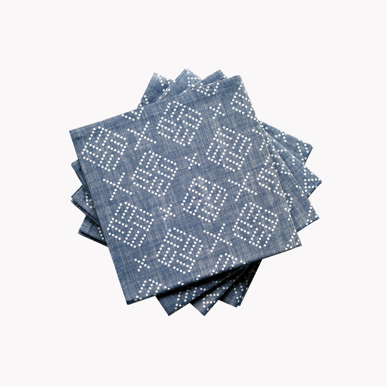 nous paris, serviettes en coton chambray, nell & mary