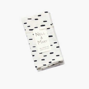 Lot-de-4-serviettes-coton-imprime-pluie-43-x-43cm-noir-et-blanc-v1