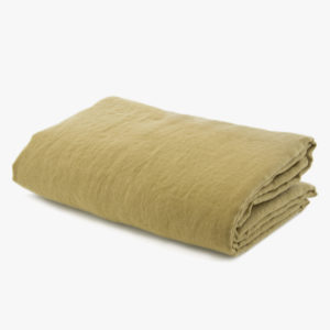 Nappe en lin jaune curry 95€