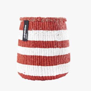 panier-kiondo-tresse-a-la-main-petit-modele-rayures-rouge-et-blanc-v1