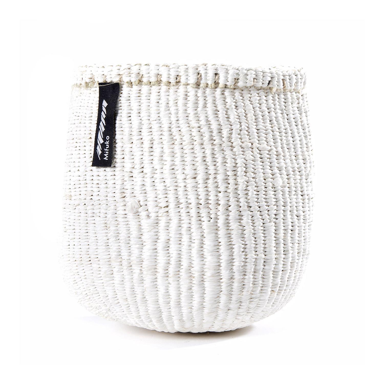 Panier Linge Nylon Tressé : Panier kiondo tresse a la main petit modele uni blanc v