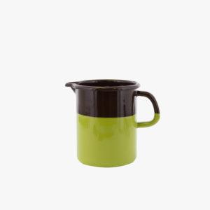 petite-carafe-verre-doseur-en-email-bicolore-50cl-marron-vert-v1
