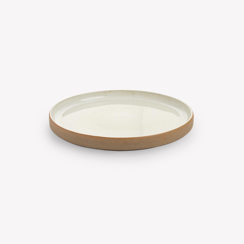 nous paris, petite assiette ou soucoupe en grès émaillé ivoire, les guimards