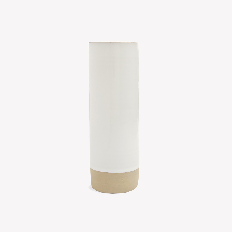 nous paris, vase cylindrique ivoire en grès, les guimards