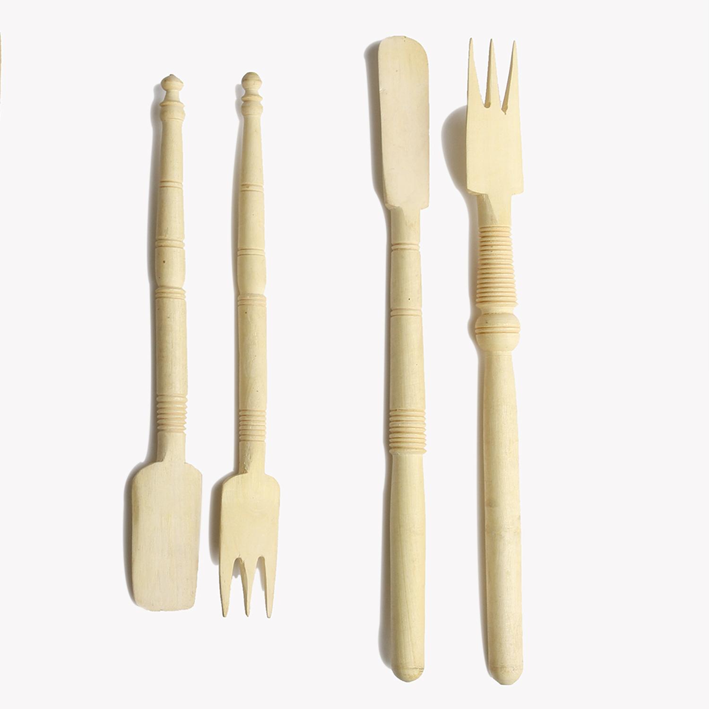 Ustensiles pour la cuisine en bois tourn et sculpt - Ustensiles de cuisine en bois ...