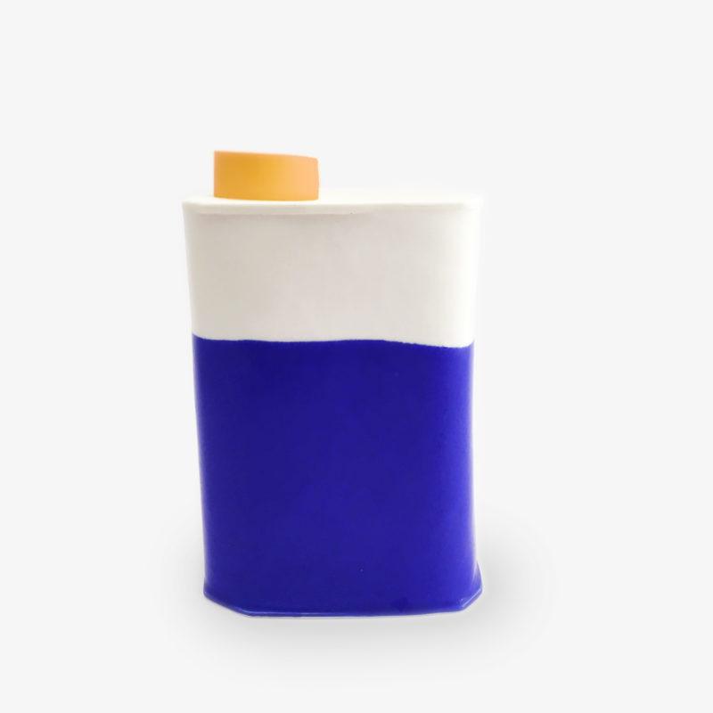 bidon-graphique-porcelaine-blanche-et-coloree-orange-eric-hibelot-1-1
