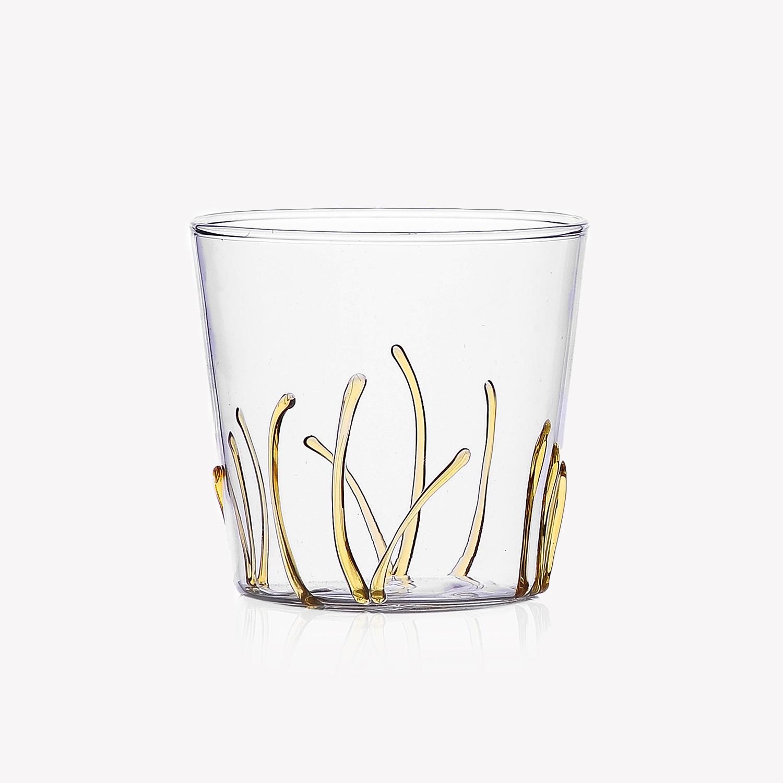 verre à eau décor végétal