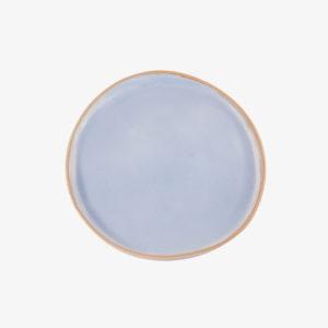 nous paris, petite assiette plate en grès émaillé lavande bleu, laurette broll