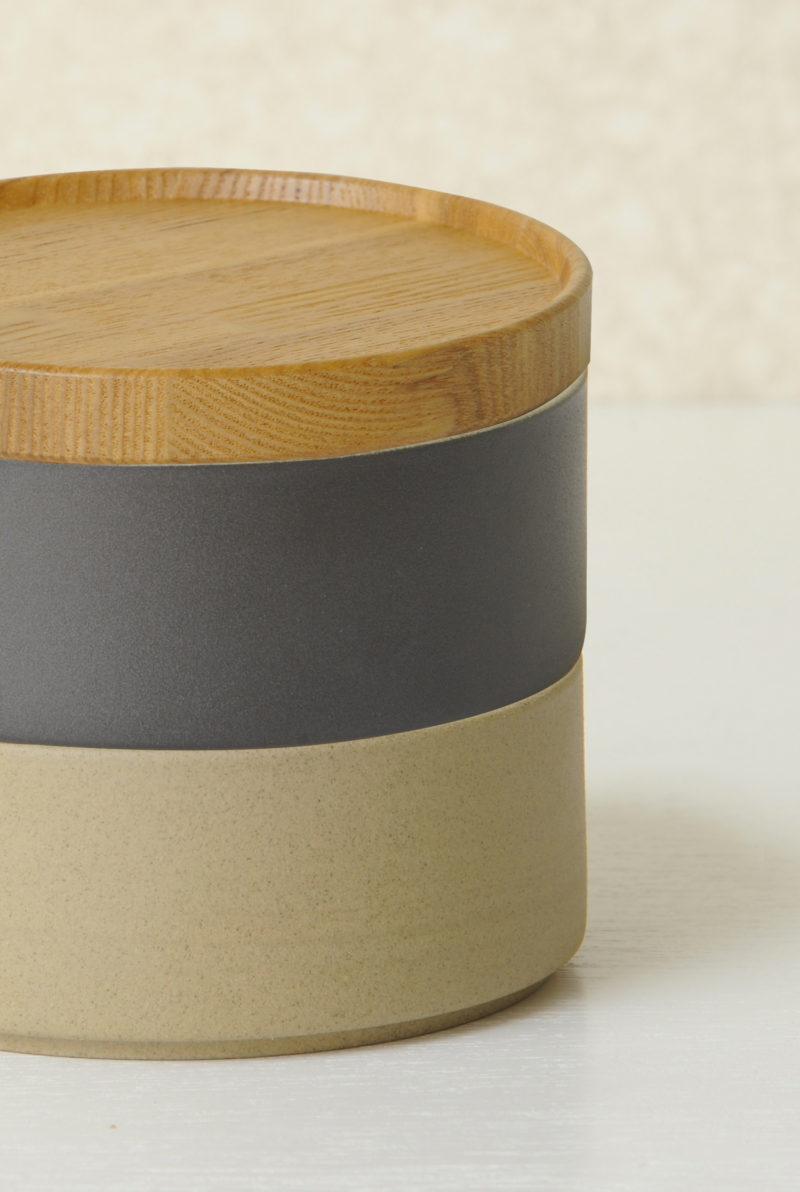 Plateau en bois massif Hasami - Bol couvercle de porcelaine japonaise - nude noir et bois - Hasami japan porcelen