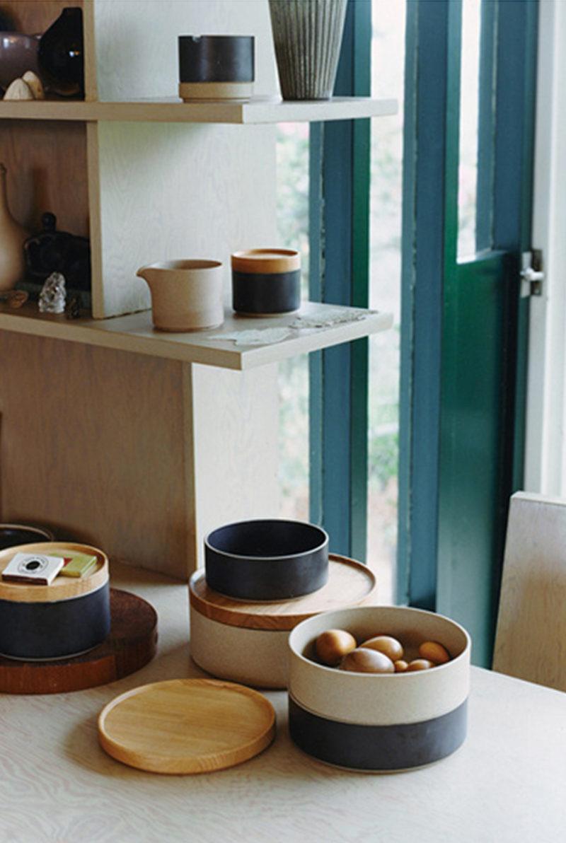 grand couvercle bol saladier porcelaine japonaise gris clair - Hasami - wabi sabi japon