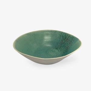 saladier plat corbeille vert céladon Laurette Broll