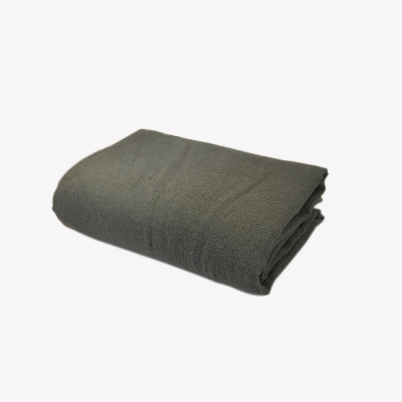 nappe en lin 140 x 250cm    gris gris