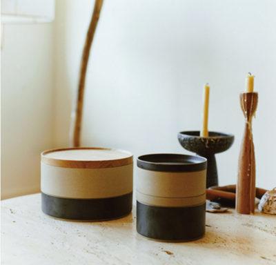 couvercle grand bol et petit bol porcelaine japonaise noir naturel - Hasami - Wabi sabi - Japan