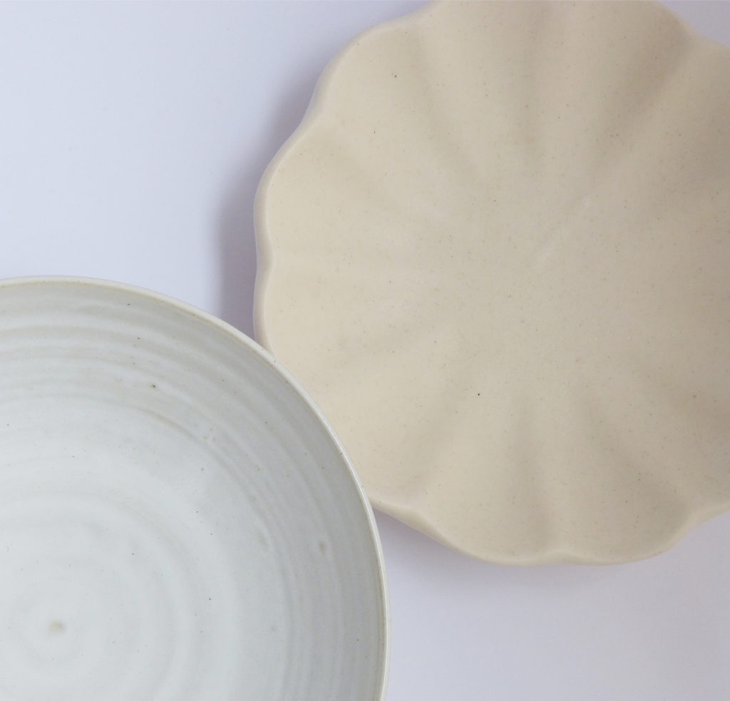 Coupe Madeleine et bol à bouillon en grès mat crème - Marion Graux