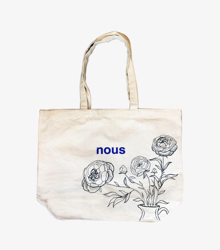 Tote bag Large - nous paris - dessin fleurs
