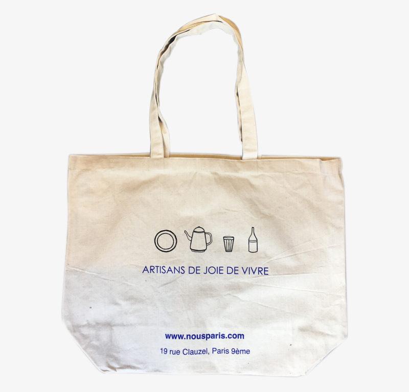 Tote bag Large - nous paris - artisans de joie de vivre