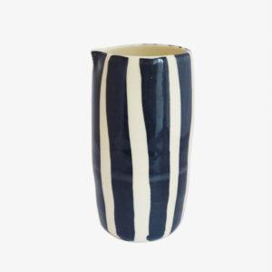 Vase-Buren-H-22cm-gres-emaille-noir-et-blanc-v1