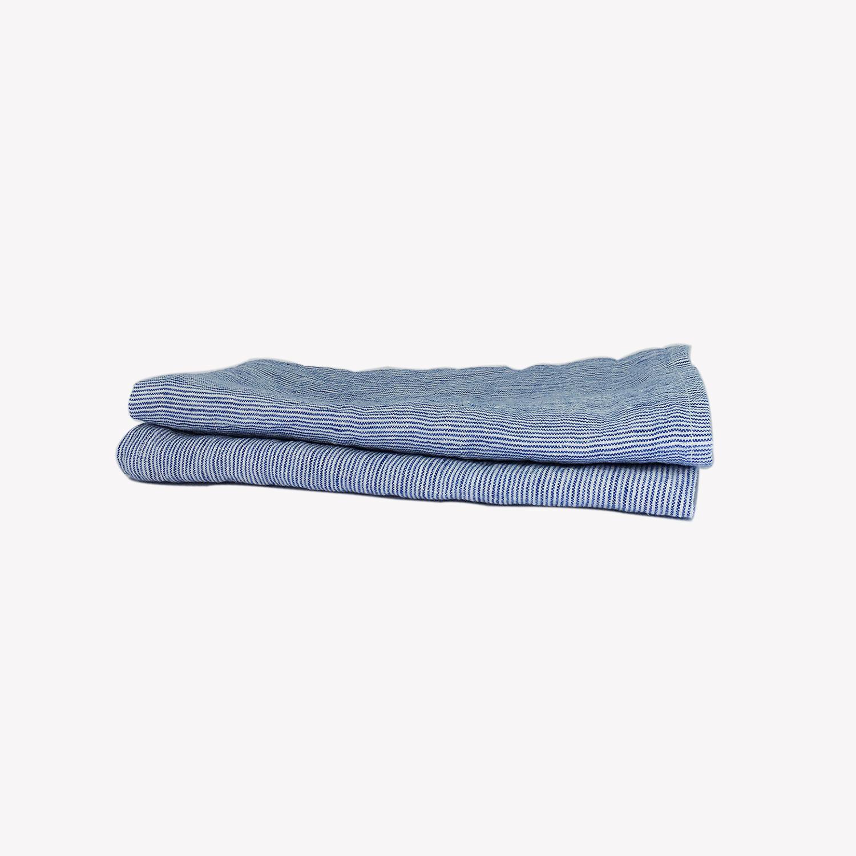 Set de 2 serviettes de table en lin fines rayures 45 x - Serviette table lin ...