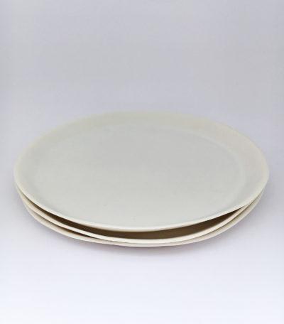 Grande assiette plate en porcelaine blanche - Marie Laurent