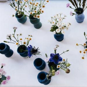 Série de solifores en grès claire albrecht vases rois et reines