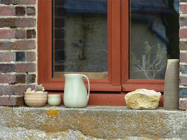 Atelier de Cécile Preziosa - extérieur rebords de fenêtre céramique