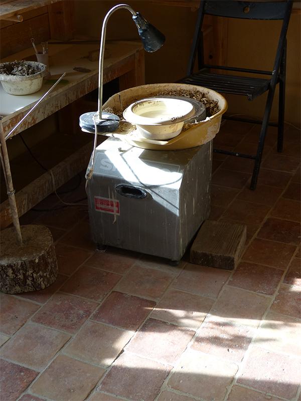 Atelier de Cécile Preziosa - tour de poterie céramique