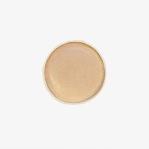 Petite assiette beige en grès laurette broll