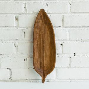 Plat long feuille en bois chêne naturel - Fuga