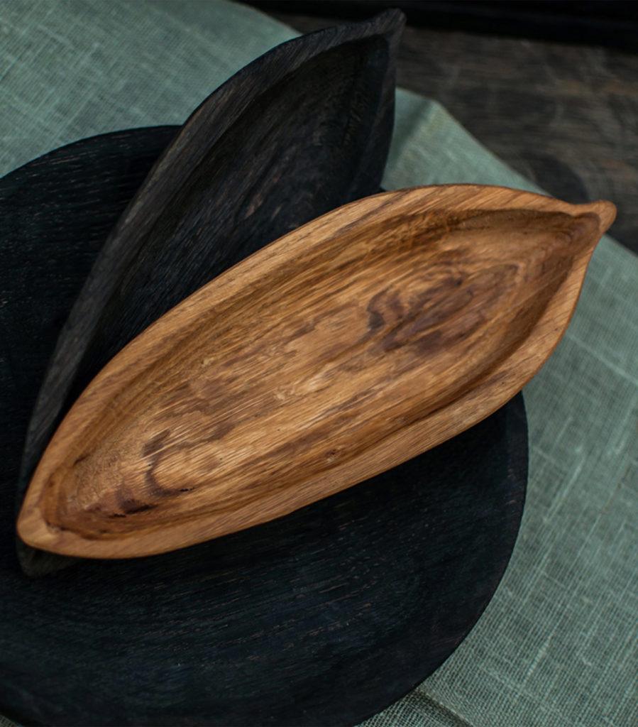 Plateau feuille long chêne naturel - Fuga