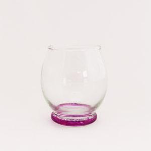 Verre à eau en verre soufflé couleur fushia - verre Beldi