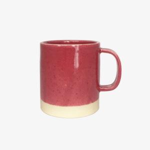 Mug tasse gobelet céramique rose thé Laurette Broll