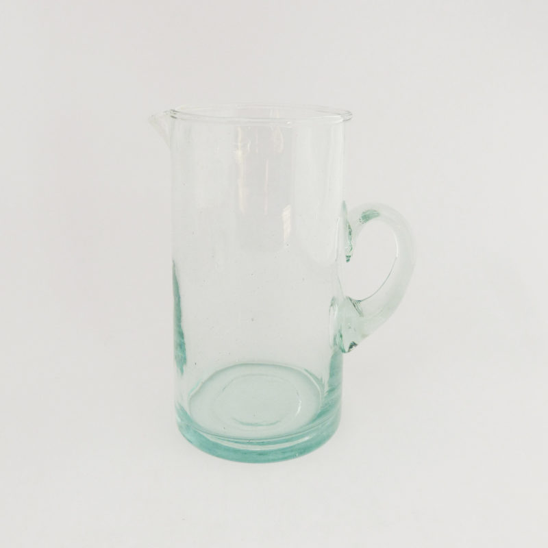 Carafe-soufflee-a-la-bouche-H-20cm-transparent-avec-anse-v1