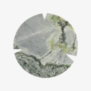 Grande planche ronde en onyx vert Koy