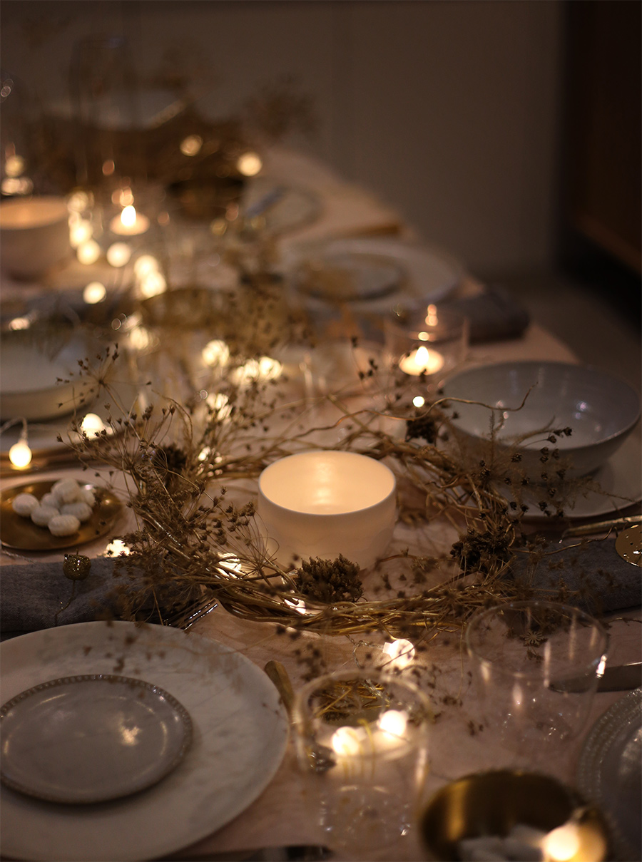 Table de Noël dressée