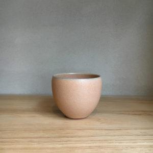 Tasse espresso grès émaillé rose malo