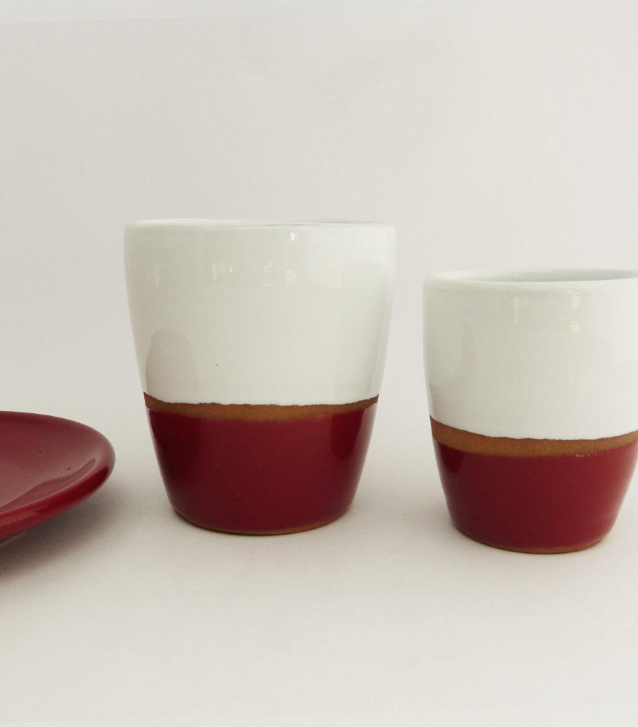 Tasse espresso tasse lungo terracotta couleur rouge - Atsonios Sifnos