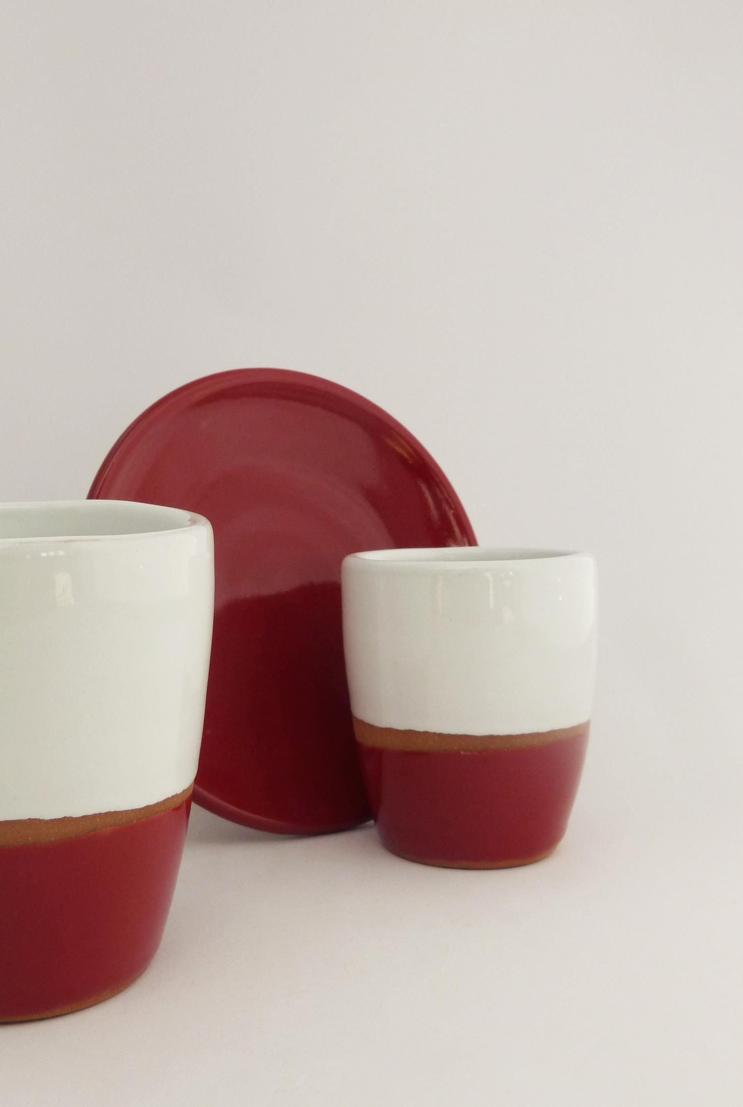 Tasse espresso terracotta couleur rouge - Atsonios Sifnos