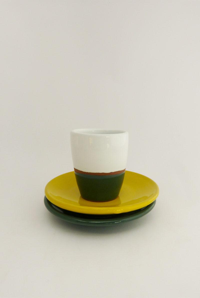 Tasse espresso terracotta couleur vert - Atsonios Sifnos