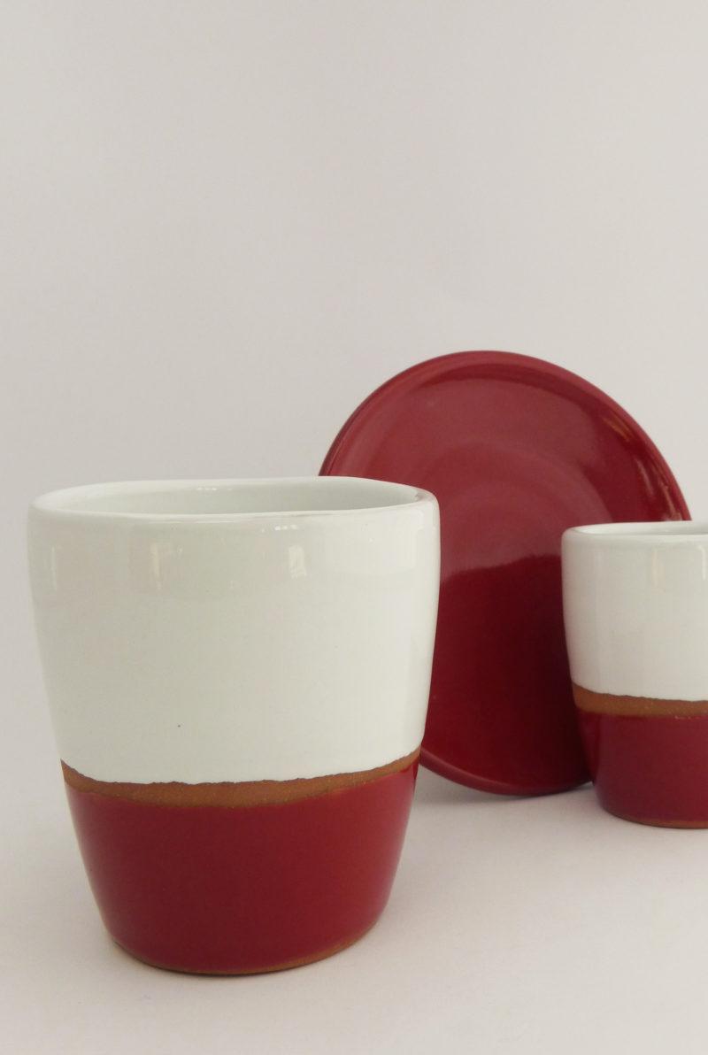 Tasse lungo terracotta couleur rouge - Atsonios Sifnos