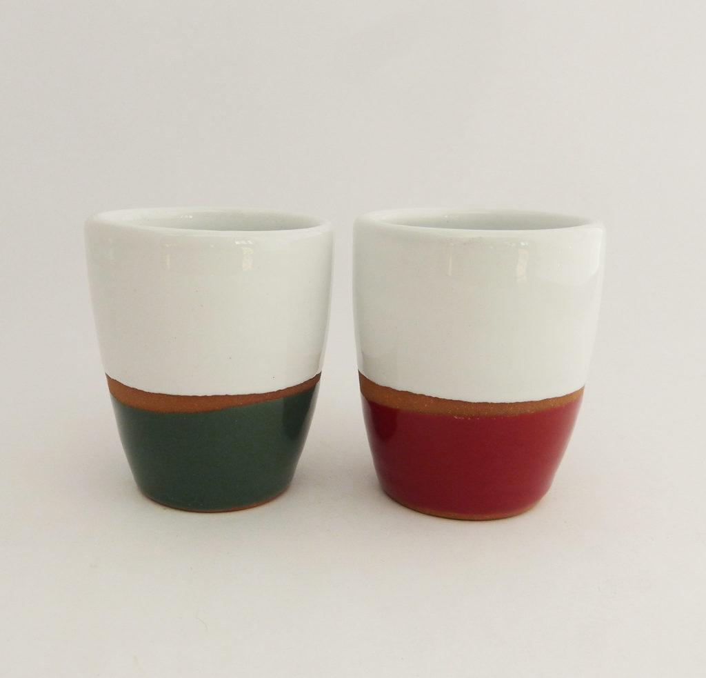 Tasse lungo terracotta couleur vert et rouge - Atsonios Sifnos