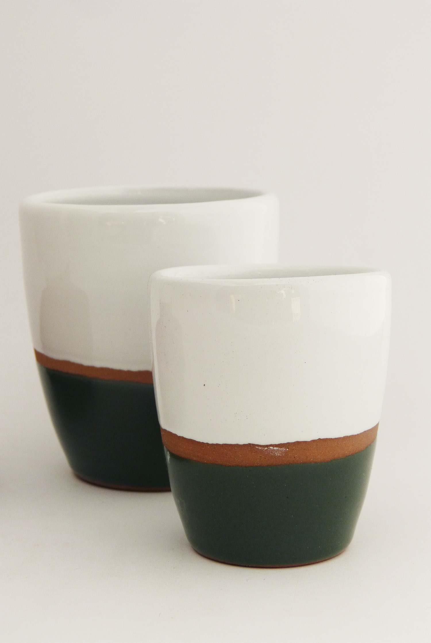 Tasse lungo terracotta couleur vert - Atsonios Sifnos