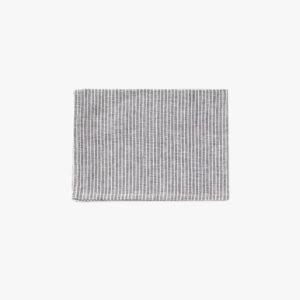 Torchon en lin a rayures gris blanc Fog Linen