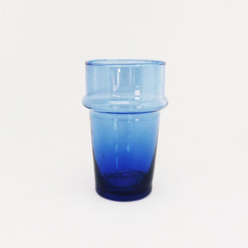 Verre-Beldi-souffle-a-la-bouche-a-relief-H-12cm-bleu-v1