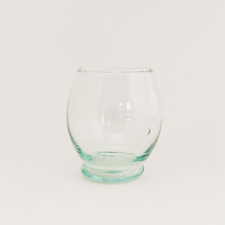 Verre à eau en verre recyclé soufflé - verre Beldi